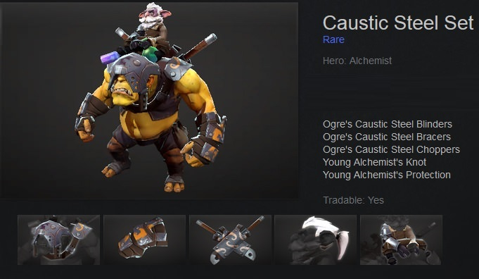 Caustic Steel Set
