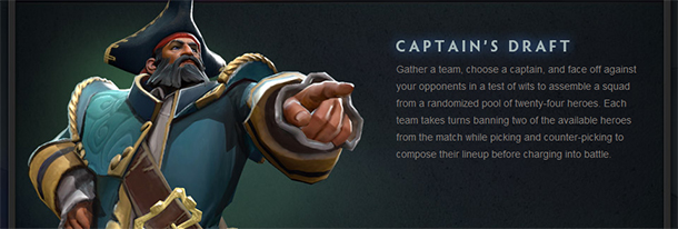 dota2 captain draft mode